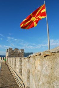 Macedonian_flag_in_Samoil_Fortress